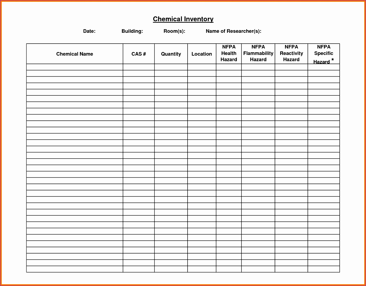 Inventory List Template Free Microsoft Word Templates  Microsoft Itinerary Template