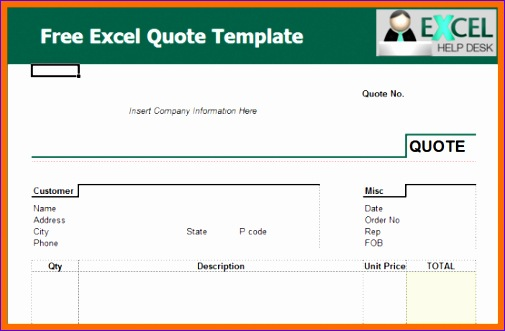 4 excel quote template 505331