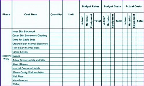 8 Job Estimate Template Excel Exceltemplates