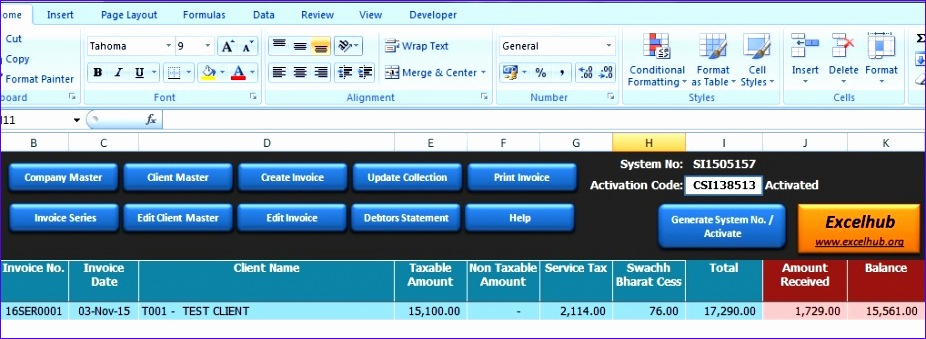invoice preperation utility in excel 926339