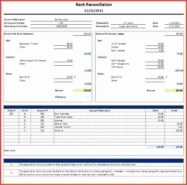 6 journal entry template excel