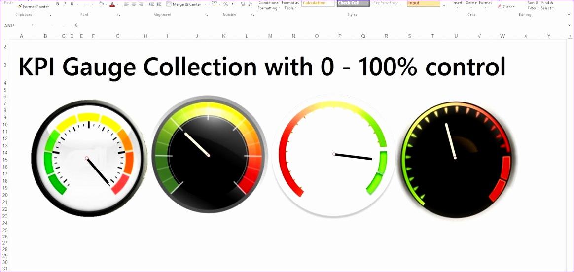 create excel kpi gauge dashboard templates 1164552