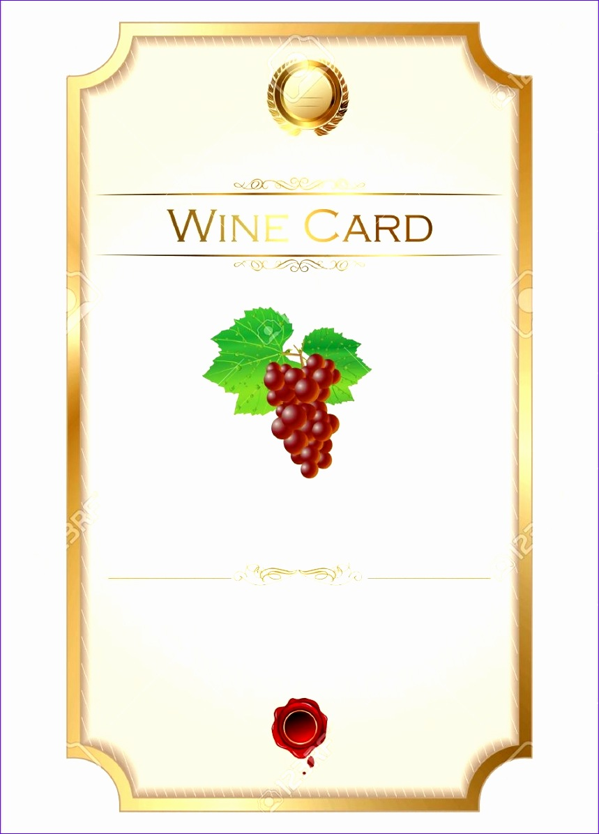 wine label template 8591196