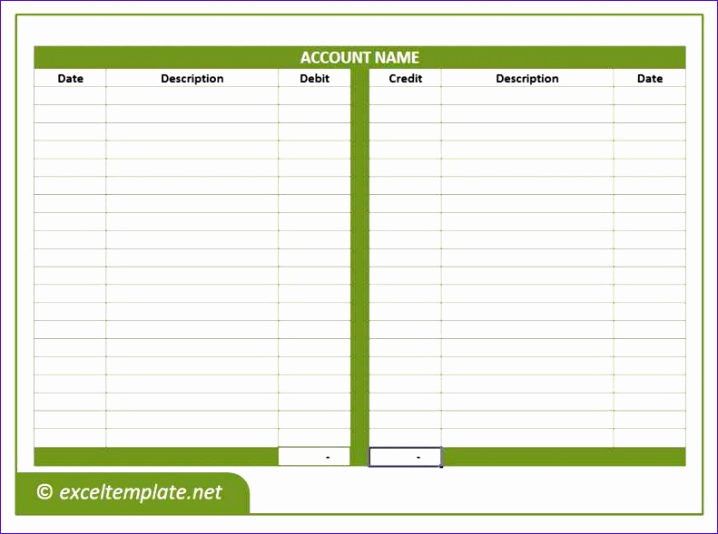 Ledger Excel Template  Exceltemplates  Exceltemplates
