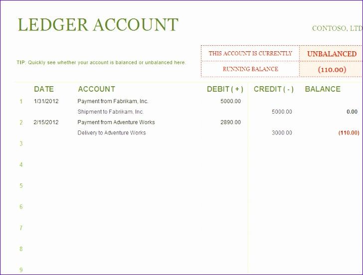 Ledger Excel Template Tswra Fresh General Ledger Template 800600