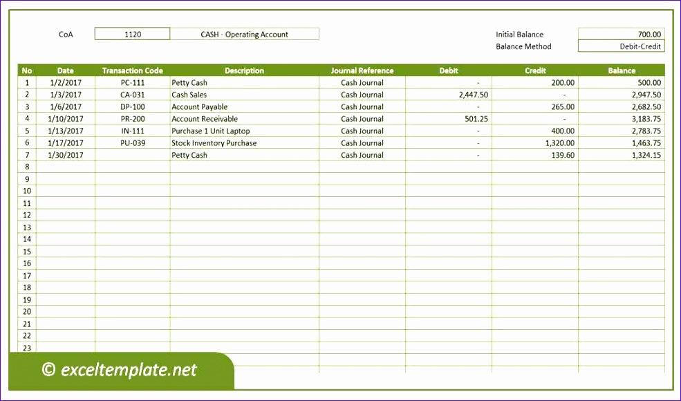 Ledger Excel Template Urljg New Ledger Templates Eliolera 1083631