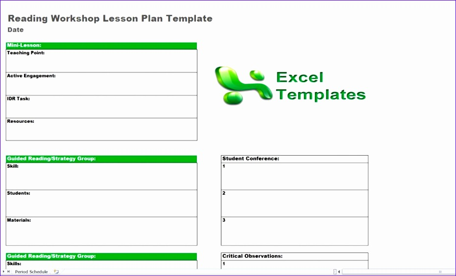 9 lesson plan template excel exceltemplates exceltemplates. Black Bedroom Furniture Sets. Home Design Ideas