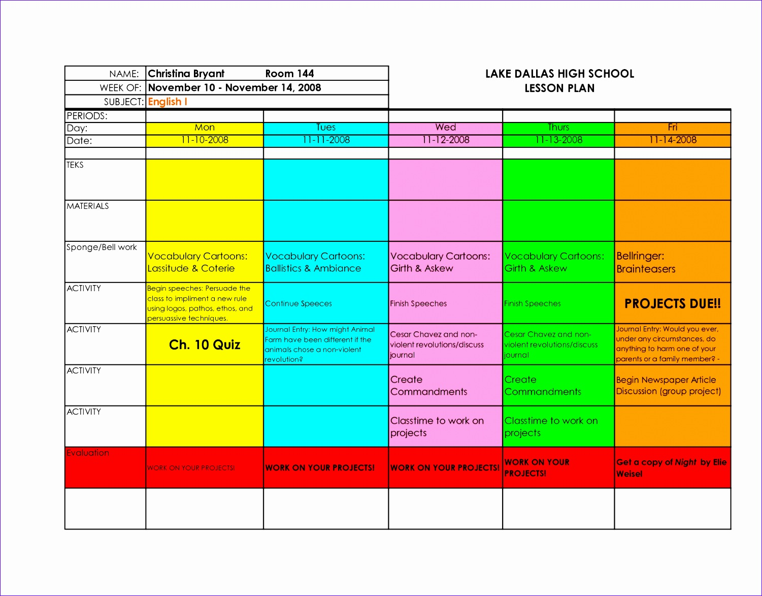 post excel lesson plan template 15011173