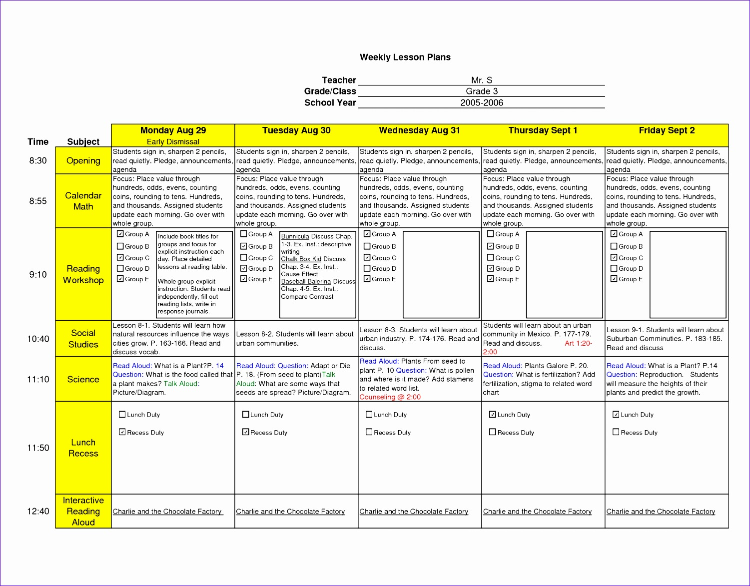 Excel Lesson Plan Template Gallery Templates Example Free Download - Dcps lesson plan template