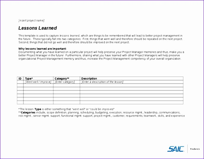 Lessons Learned Template Excel  Exceltemplates  Exceltemplates