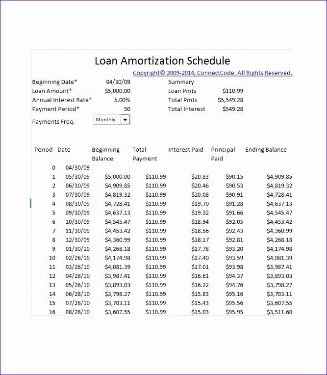 amortization schedule 667764