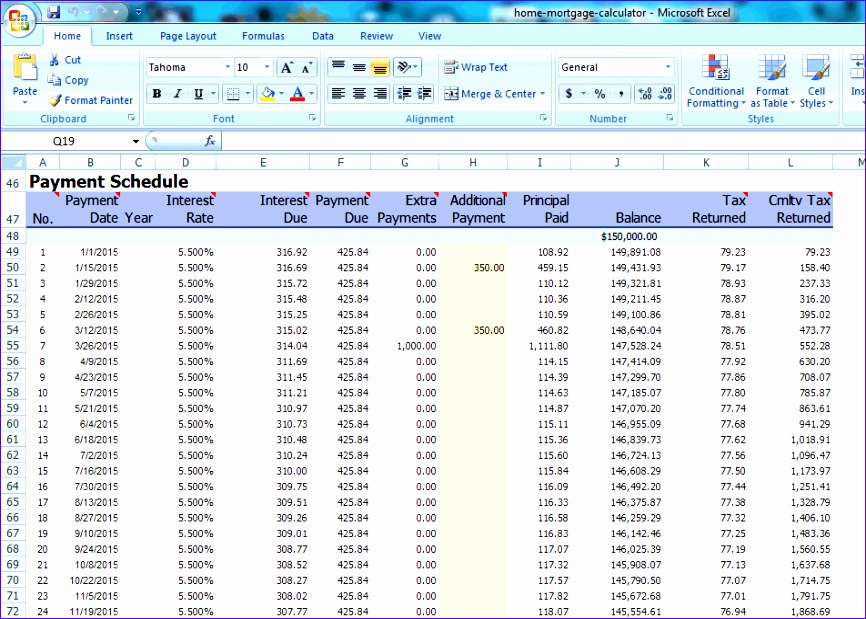 list of best free amortization shedule maker software 866619