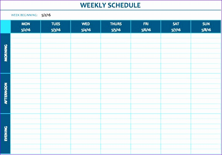 Loan Amortization Excel Template Csrda Unique Free Weekly Schedule Templates for Excel Smartsheet 798554
