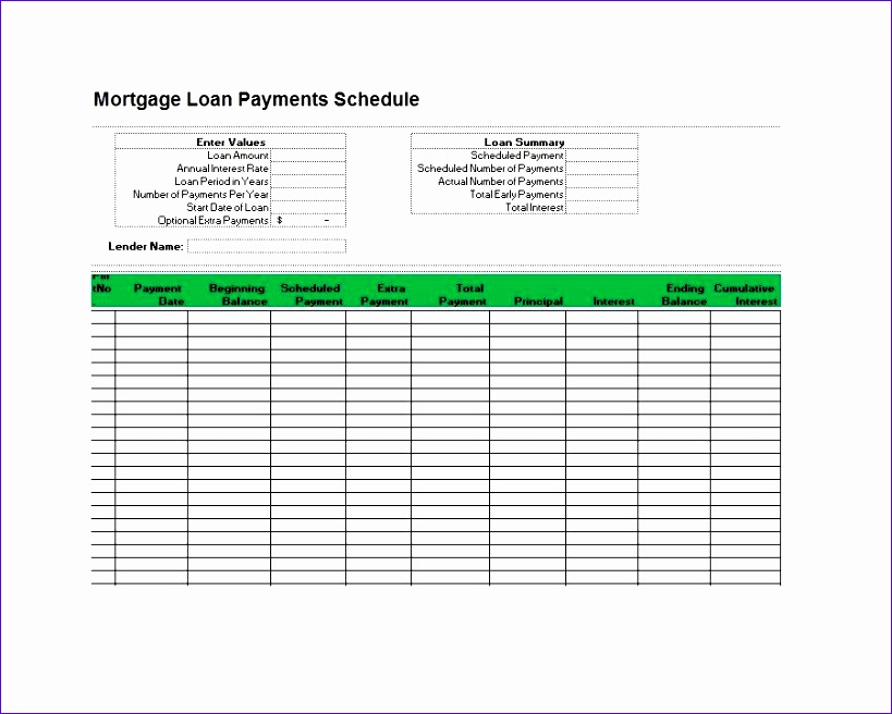 Loan Amortization Excel Template tosoh Luxury 28 Tables to Calculate Loan Amortization Schedule Excel 901714