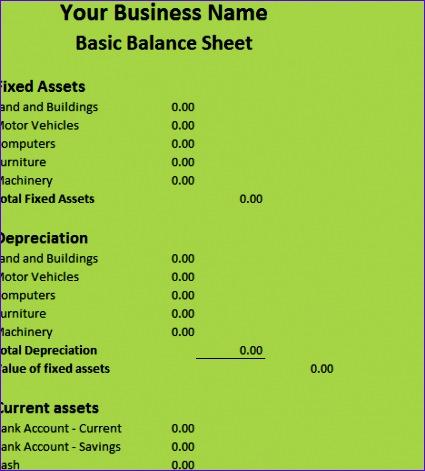 basic balance sheet 425471
