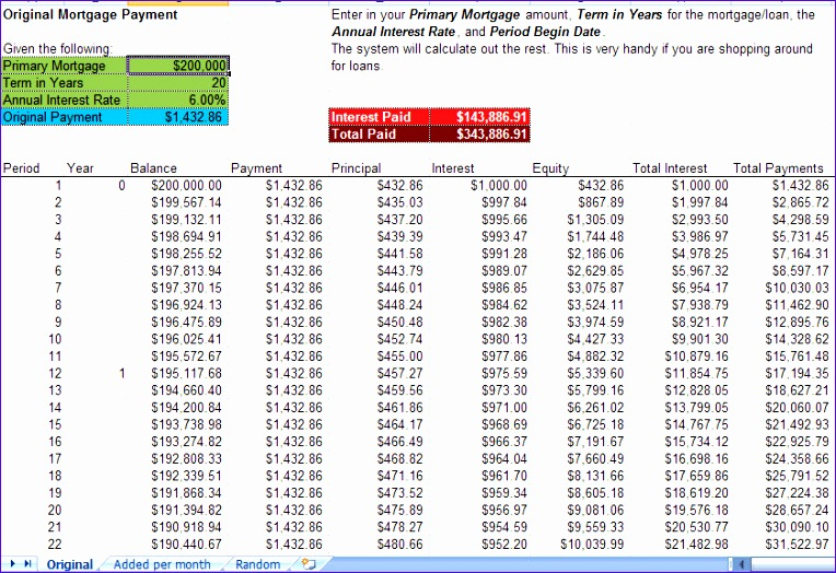 mortgage accelerator calculators excel template