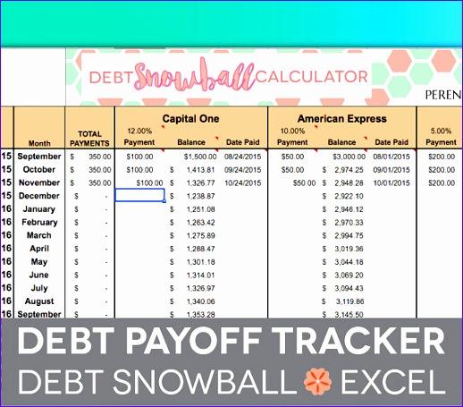debt payoff spreadsheet debt snowball