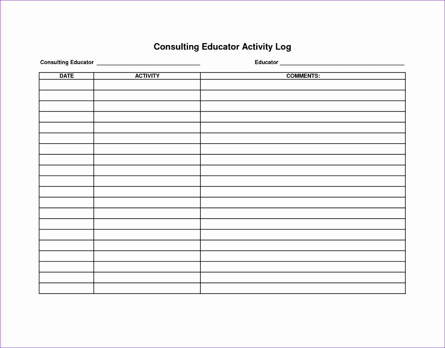 post activity log sheet template 15011173