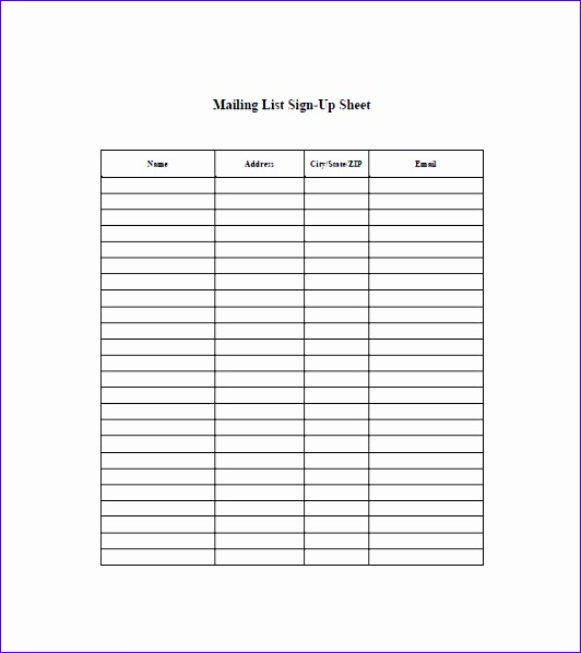 mailing list template 5 532598