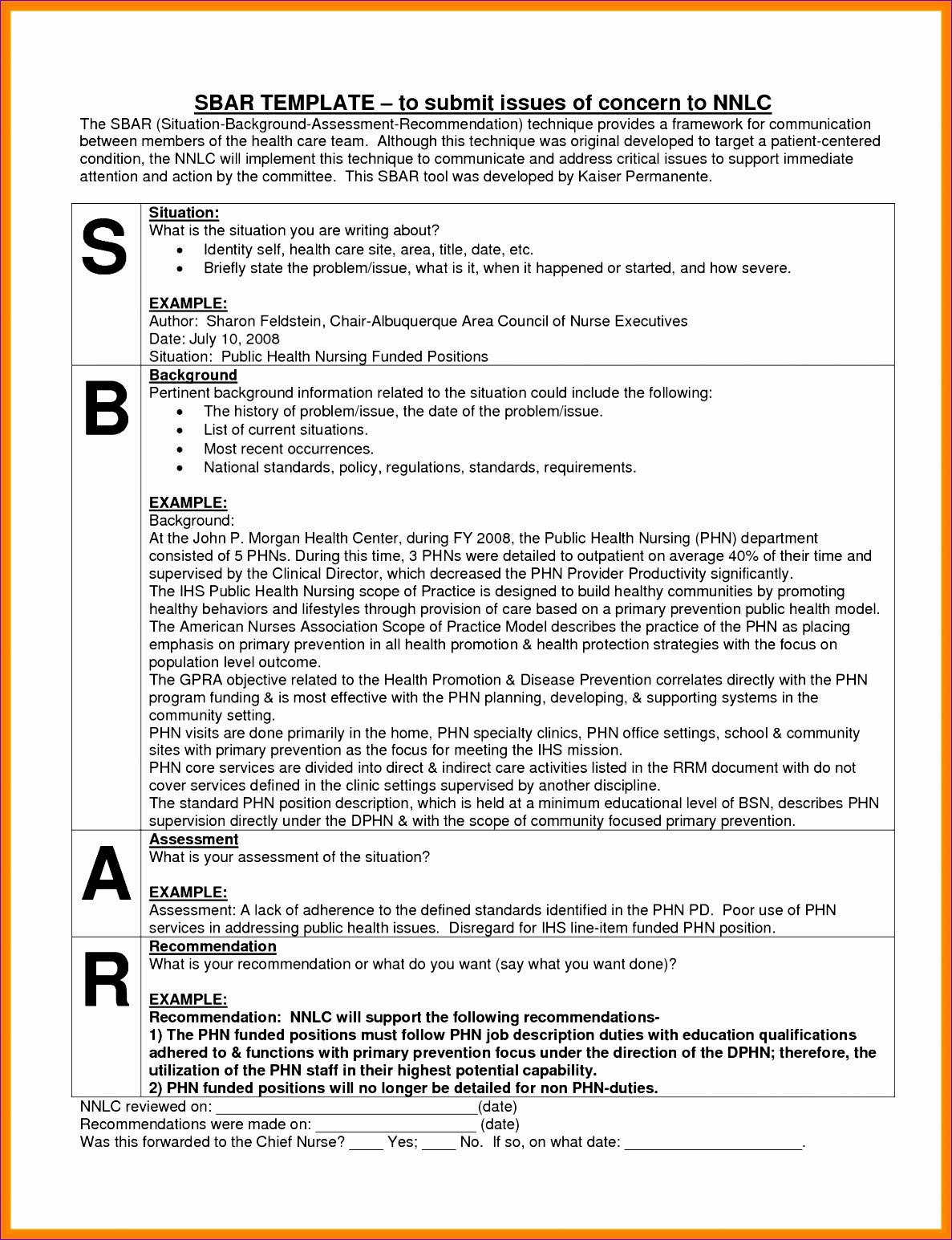 9 sample sbar report 11871545