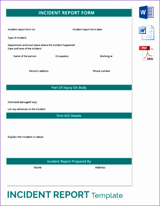 incident report template 546701