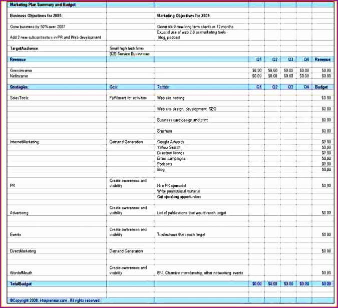 Marketing Budget Template Excel  Exceltemplates  Exceltemplates