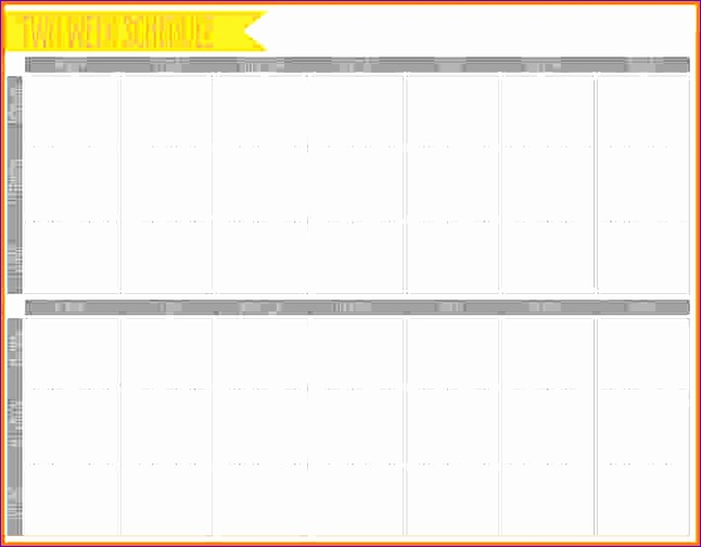 10 week schedule template 646504