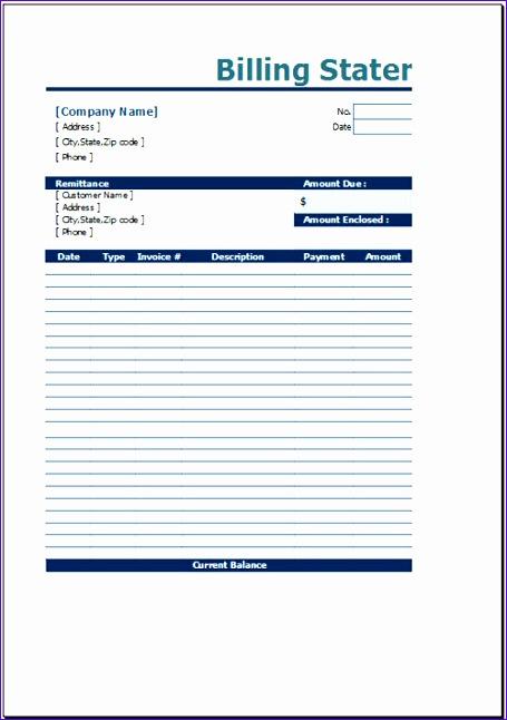free billing statement template 455646