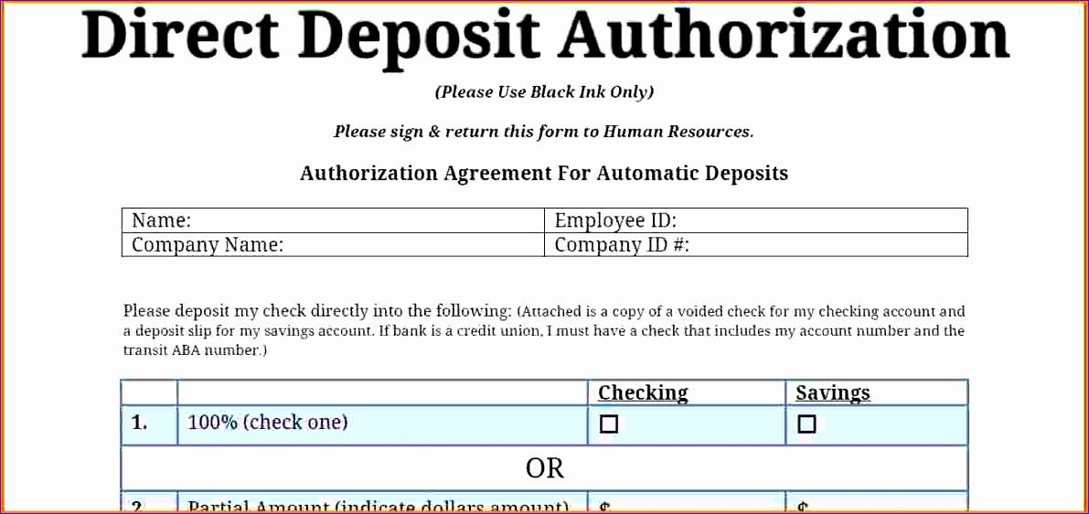 8 direct deposit authorization form 1191562