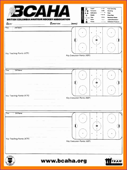 7 hockey practice plan template