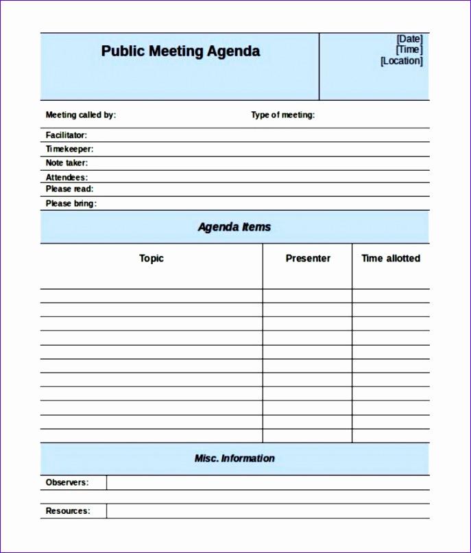 10 meeting agenda excel template exceltemplates exceltemplates. Black Bedroom Furniture Sets. Home Design Ideas