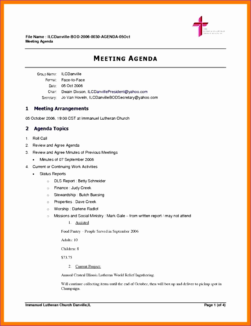 5 sample board meeting agenda 8621120
