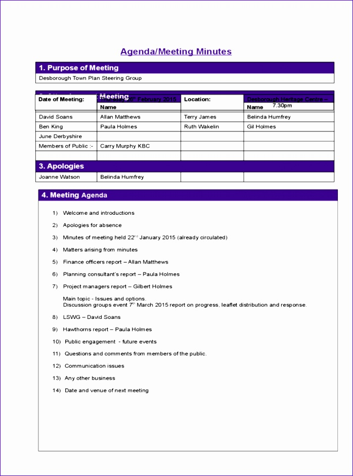 project meeting minutes template 698942