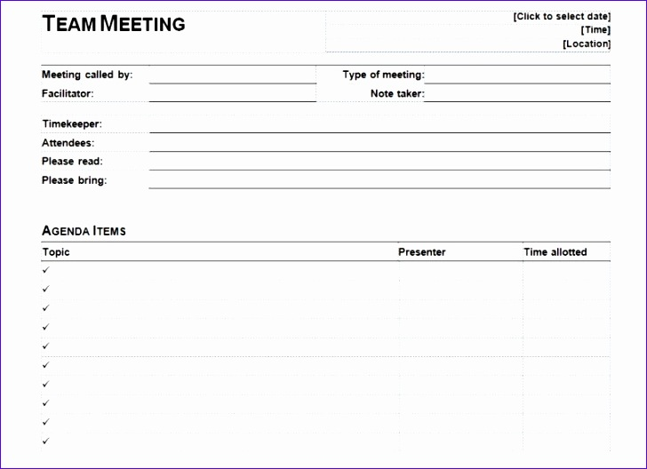 11 business meeting agenda template excel 8 728528