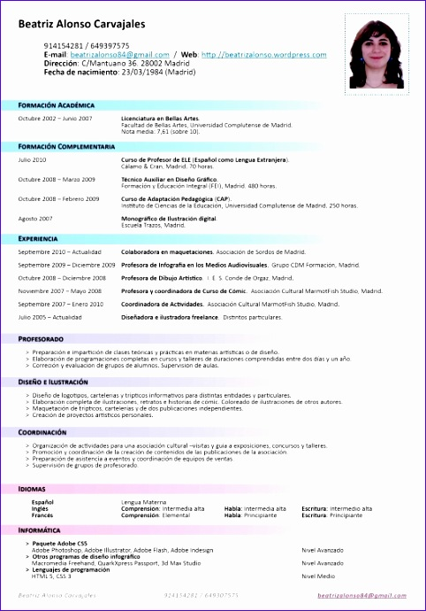 Meeting Template Excel E23ll Luxury formato De Curriculum Vitae 2016 530750