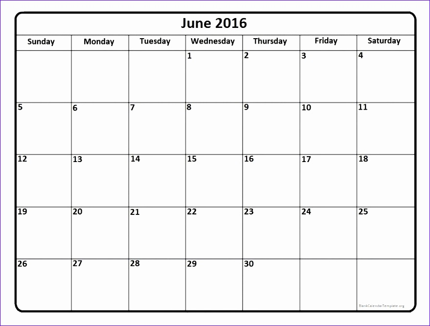 printable 2016 june calendar template 879666