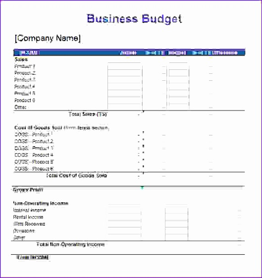8 business bud spreadsheet 529561