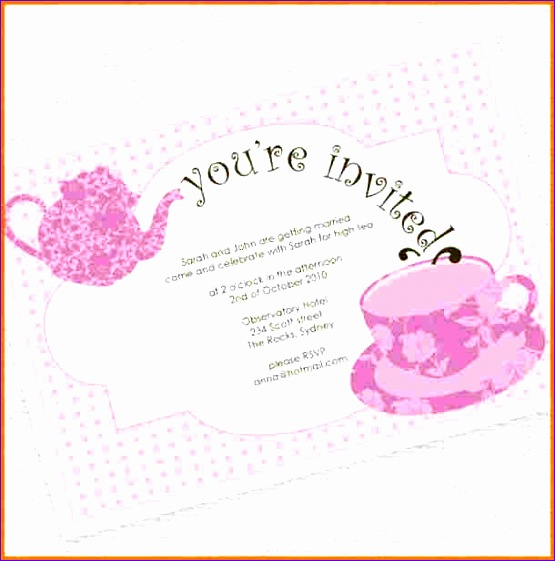 tea party invitation template 555561