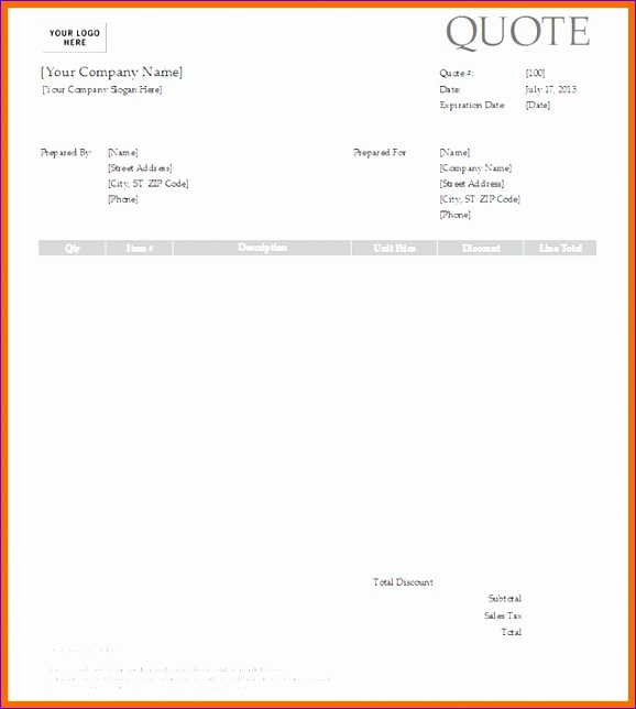 5 construction quote template 578644