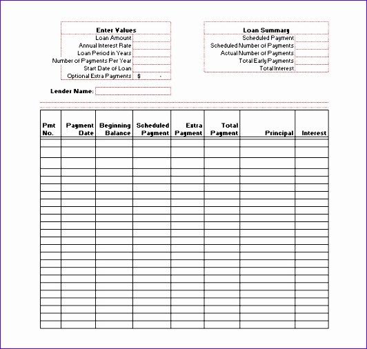 amortization schedule template 532506