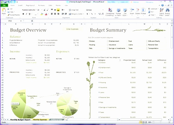 bud excel template 579416