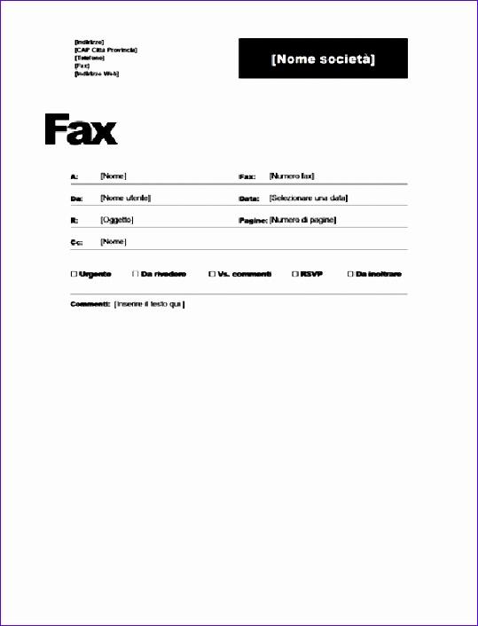 Copertina fax TM 539706