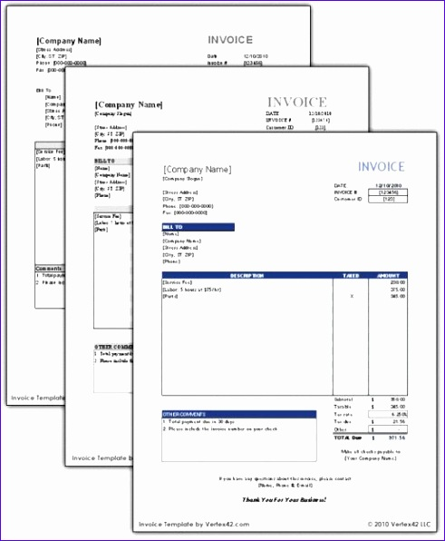 free invoice template 491596