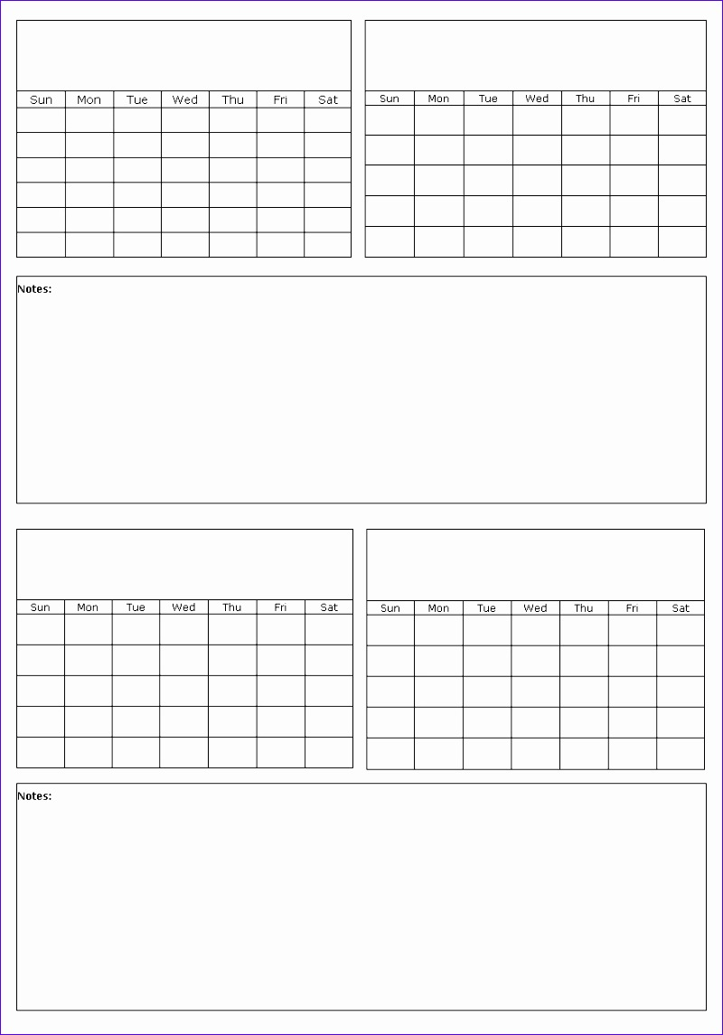 calendar template with picture space 145 8001145