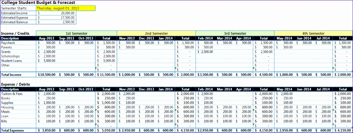 10 Microsoft Excel Calendar Template 2014 Exceltemplates