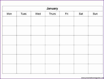 powerpoint blank calendar 425322