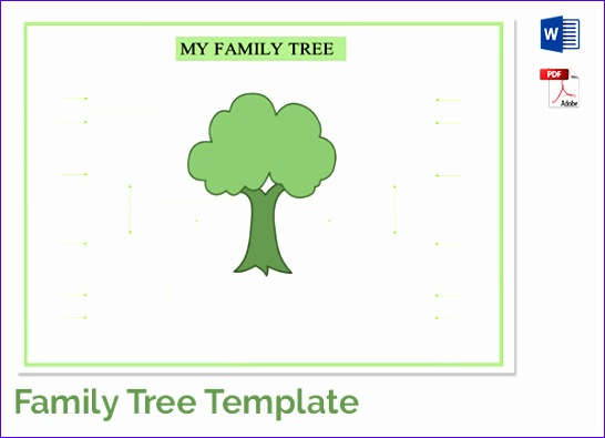 free family tree template word excel 546395