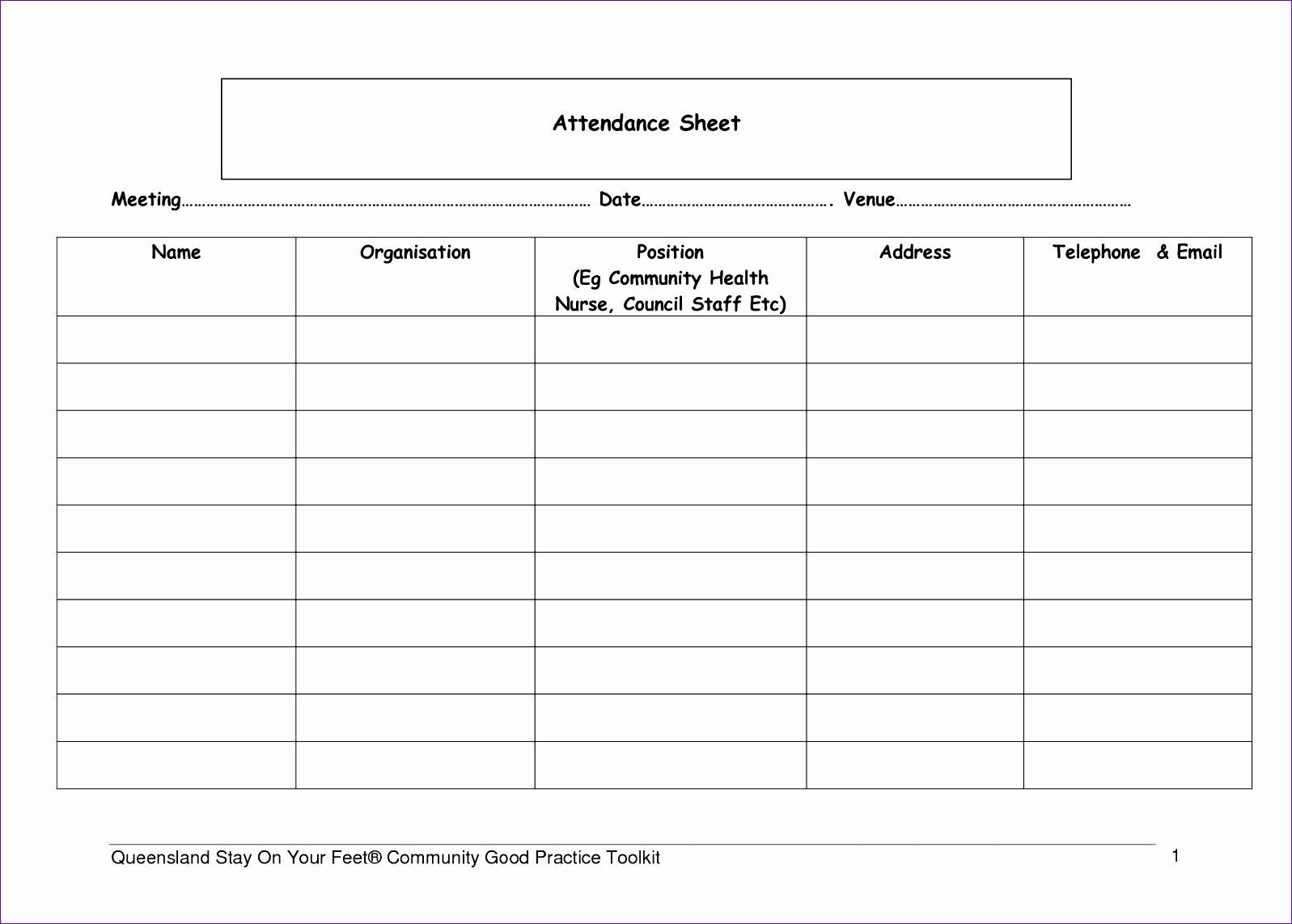 6 attendance sheet template 15971142