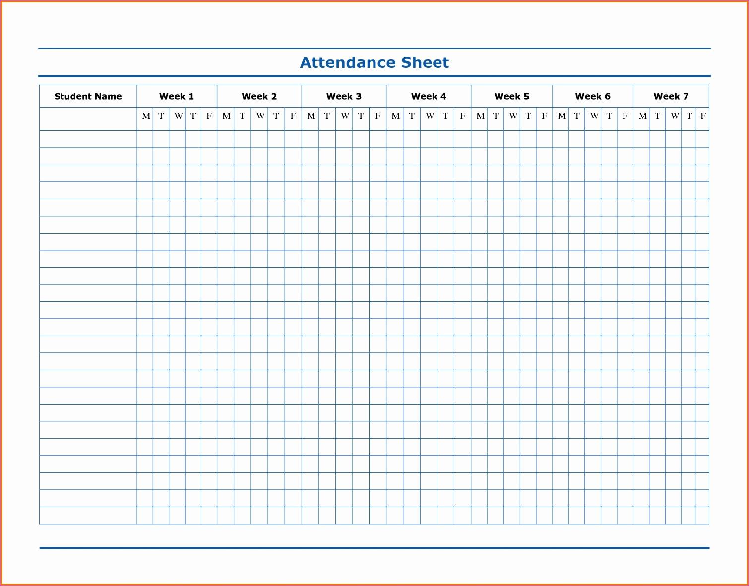 4 attendance sheet template 15101182