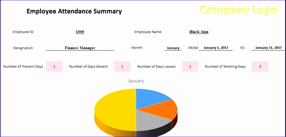 printable employees attendance sheet in excel format 980469